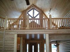 Interiors of Log Homes from Town & Country Homes on Pinterest