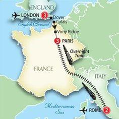 London to Paris to Rome