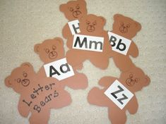 Brown bear, brown bear letter activity