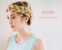 loose halo braid DIY