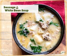Rustic and Hearty Tuscan Sausage and White Bean Soup