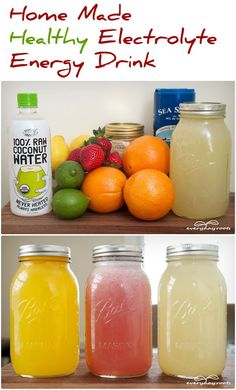 Home Made Healthy Electrolyte Energy Drink electrolyt drink, energi drink, homemade drinks, food, energy drinks, health, coconut water, drink recipes, natural energy