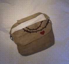 Crown of  Thorns Jute Bag by PreciousGoons on Etsy, $25.00
