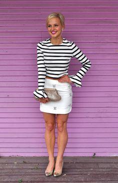 striped top with volume | Vandi Fair