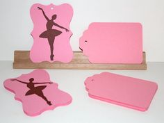 Ballerina Favor Gift Tags  Pink And Brown  Dancer by Booksonblocks, $3.50