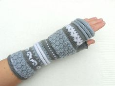 Wool gloves scandinavian gloves fingerless gloves by Woollytrend, $33.00