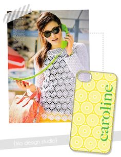 Trio Design Studio - iPhone & iPad cases.  Stylish & Monogrammed.  Maybe I wouldn't lose my phone so much if I had my name on it.   http://shop.triodesignstudio.com/
