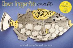 Clown Triggerfish Printable Craft | LearnCreateLove.com