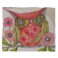 {Miss Goldie Throw Blanket} by Cori Dantini - entirely too cute! Would make a fantastic watercolor tat!!!