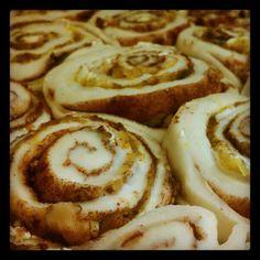 Pumpkin pie cinnamon rolls with doTERRA essential oils
