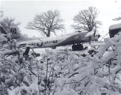 Thorpe Abbotts scenes from record cold winter of 1944.  This was the aircraft the Bazin crew was flying on 4/10/1945 when they were shot down on the Magdeburg mission.  My dad (Robert Patterson) was the radar man on this crew when it was shot down.