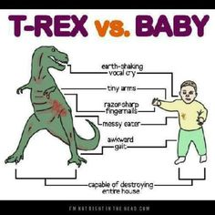 Toddler humor, T-Rex vs. Baby