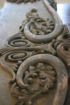 carved furniture detail