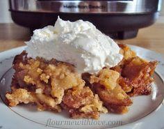 Slow-Cooker Apple Pie #FlourMeWithLove #applepie  #slowcooker  #crockpot