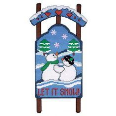 Mary Maxim - Let it Snow Plastic Canvas Kit - Plastic Canvas Kits - Plastic Canvas - Crafts