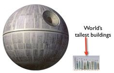 Lego Death Star bigger than you might think...
