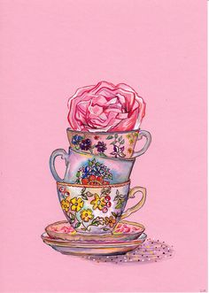tea cups ♥ color cup