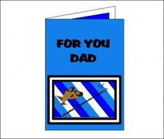 Free Printable Fathers Day Card for kids