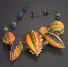 Sarah Shriver-Dayle Doroshow-necklace 2012 shriverdayl doroshownecklac, clays, bead, sarah shriverdayl, polym clay, de 2012, fiber, polymer clay, shriver polymer