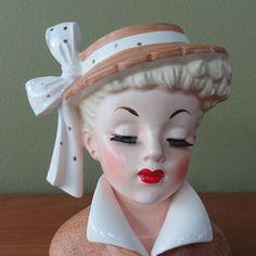 Napco Lady Head Vase