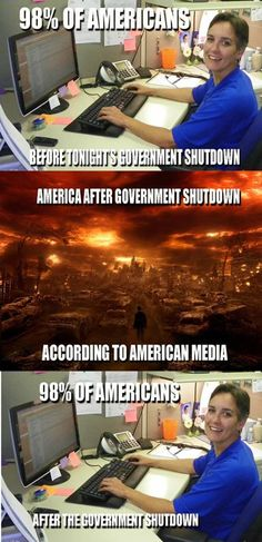 Before/After government shutdown