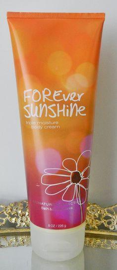 Bath & Body Works - Signature Collection - Forever Sunshine Triple Moisture Body Cream - 8 Oz