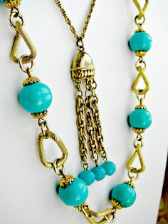 Two Vintage Necklaces Goldtone Chain by ToadSuckTreasures on Etsy, $30.00