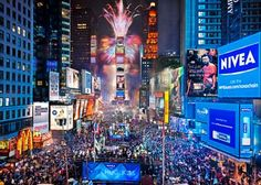 Times square at new years