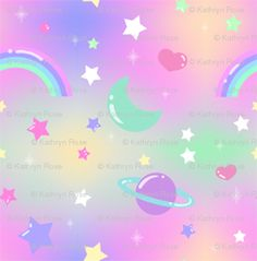 Kawaii on pinterest 460 pins for Pastel galaxy fabric