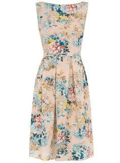 Dorothy Perkins  Pink floral prom dress
