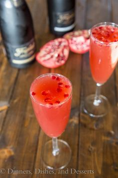 Pomegranate Mimosas | Dinners, Dishes, and Desserts