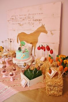 Anniversaire theme cheval on pinterest pony party themed birthday parties - Decoration pour buffet ...