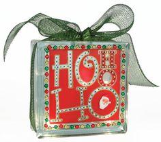Ho Ho Ho Glass Block #glassblock #craft #christmas