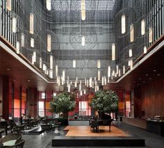 interior, lobbi, offices, neri, westin museum, museum hotel, design, westin hotel, hotels