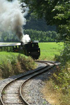 Going on a historic ride on the Wälderbähle train in Vorarlberg, Austria  #austria #vorarlberg #waelderbaehle #trainride #summer #adventure