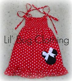 Custom Boutique Clothing White Red Dots Minnie by LilBugsClothing, $34.50