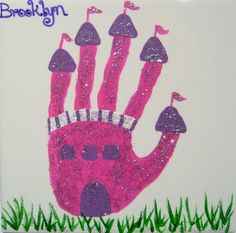 A Hand Castle! Great for Spa Day craft of Princess Ball craft!