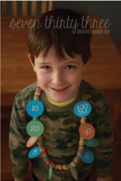 seven thirty three - - - a creative blog: 100 Days of School {Necklace}