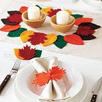 How to make a Thanksgiving table runner and napkin rings