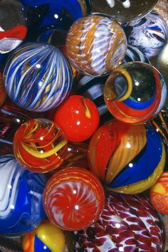I love these Davis glass marbles!!! Made in West Virginia