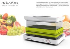 portable food, foods, lunch boxes, stuff, gadget, food warmer, cold lunches, usb, lunchbox
