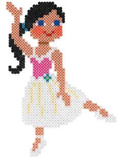 Ballerina / Hama Perlen / perler beads  / Bügelperlen
