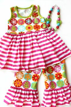 Christmas outfit toddler girl little girls clothing boutique MOMI