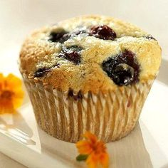 Mary Lou's Muffins, a tender, moist lemon-blueberry muffin. More muffin recipes: http://www.midwestliving.com/food/breakfast/quick-and-easy-muffin-recipes/