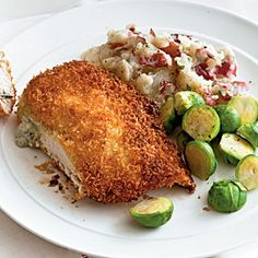 Blue Cheese-Stuffed Chicken with Buffalo Sauce | MyRecipes.com #myplate #protein