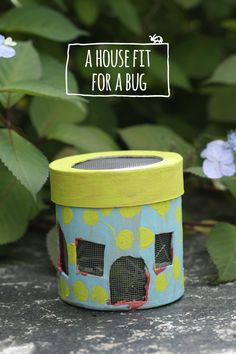 Cute bug house for kids to make--my LO would LOVE this! they have a bug WORLD over at their Daycare! The house would be FULL!!! #kidsactivities #childsplay #playtime #kidsplay #kids #children