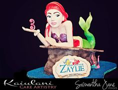 Zaylie's Little Mermaid by Kaiulani Cake Artistry (5/15/2012)  View cake details here: http://cakesdecor.com/cakes/15396