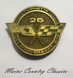 Vintage 1978 CORVETTE 25TH ANNIVERSARY BELT BUCKLE 1953-1978 No. 1144