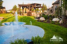 Splash Pad Residential Landscape. Like this idea, a splash pad/pool combo
