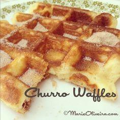 Churro Waffles Recipe - Crispy on the outside, light and spongy on the inside.